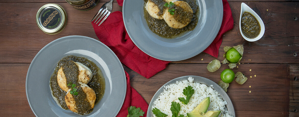 ROASTED WHITEFISH MEDALLIONS WITH ROASTED GREEN SAUCE AND WHITE WINE